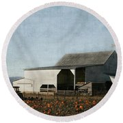 Pumpkin Farm Round Beach Towel