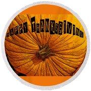 Pumpkin Holiday Round Beach Towel