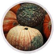 Pumpkin Mix Round Beach Towel