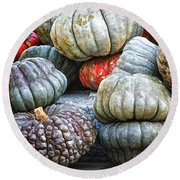 Pumpkin Pile II Round Beach Towel