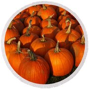 Pumpkin Strike Round Beach Towel