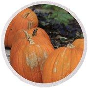 Pumpkins Galore V2 Round Beach Towel