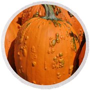 Pumpkinville Round Beach Towel