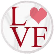 Pure Love Round Beach Towel