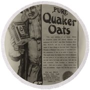 Pure Quaker Oates Round Beach Towel by Bill Cannon