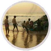 Puri Fishermen Round Beach Towel
