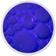 Purple Bubbles Round Beach Towel