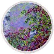 Purple Haze Round Beach Towel by Joanne Smoley
