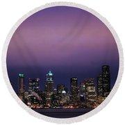 Purple Haze Round Beach Towel