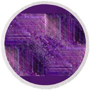 Purple Mystique Round Beach Towel