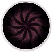 Purple Power Round Beach Towel