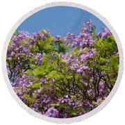 Purple Prelude Round Beach Towel