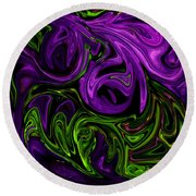 Purple Transformation Round Beach Towel