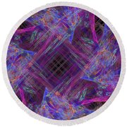 Purples II Round Beach Towel