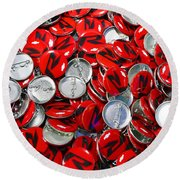 Push Chevys Buttons Round Beach Towel