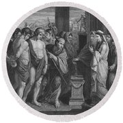 Pylades And Orestes Round Beach Towel