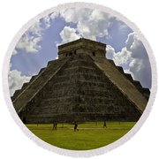 Pyramid Of Kukulkan Two Round Beach Towel