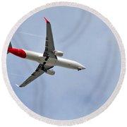 Qantas Heading Home Round Beach Towel