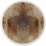 Qi Round Beach Towel by Christopher Gaston