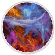 Quadra-06 Round Beach Towel