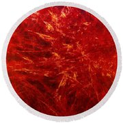 Quadra-18-red Round Beach Towel