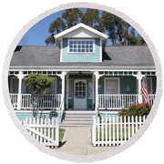 Quaint House Architecture - Benicia California - 5d18817 Round Beach Towel