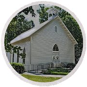 Quaker Church Pencil Round Beach Towel