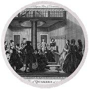Quaker Meeting, C1790 Round Beach Towel