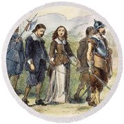 Quakers: Mary Dyer, 1659 Round Beach Towel