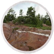 Quartz Vein Round Beach Towel