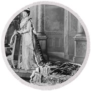 Queen Alexandra, 1902 Round Beach Towel by Omikron