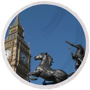 Queen Boadicea Round Beach Towel