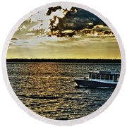 Queen City Ferry Round Beach Towel
