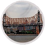 Queensboro Bridge Round Beach Towel