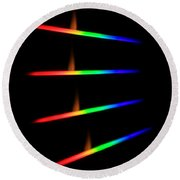 Quicklime Spectra Limelight Round Beach Towel by Ted Kinsman