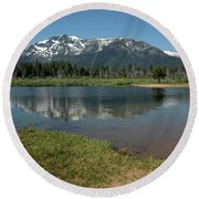 Quiet Reflections Round Beach Towel