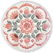 Quilted Centerpiece Round Beach Towel