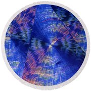 Quinic Acid Round Beach Towel