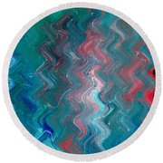 R G B Round Beach Towel