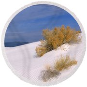 Windswept - White Sands National Monument Round Beach Towel