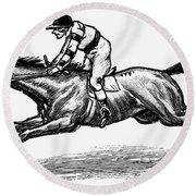 Race Horse, 1900 Round Beach Towel