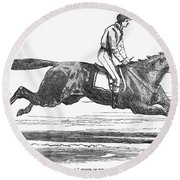 Racehorse, 1856 Round Beach Towel