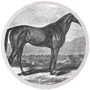 Racehorse, 1867 Round Beach Towel