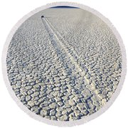 Racetrack Death Valley Trail Of Mystery Round Beach Towel