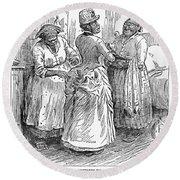 Racial Caricature, 1886 Round Beach Towel