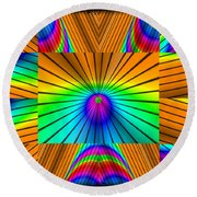 Radiant Rainbow Round Beach Towel