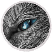 Raging Blue Round Beach Towel