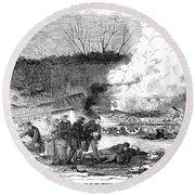 Railroad Accident, 1853 Round Beach Towel
