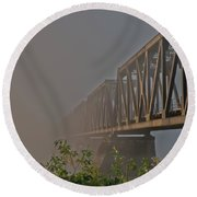 Railway Bridge Round Beach Towel