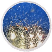 Rain On My Windshield Round Beach Towel